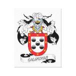 Calderon Family Crest Canvas Prints
