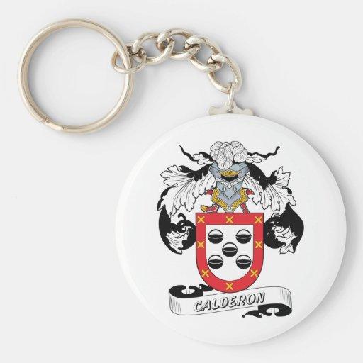 Calderon Family Crest Key Chain