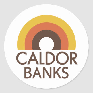 Caldor Banks Classic Round Sticker