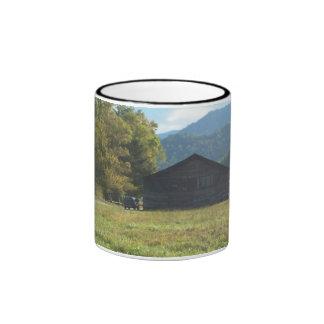 caldwell barn valley, catalochee nc ringer mug