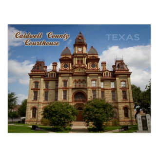 Caldwell County Courthouse, Lockhart, Texas Postcard