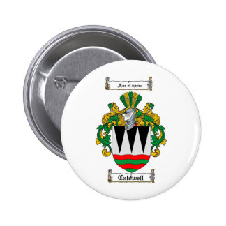 CALDWELL FAMILY CREST -  CALDWELL COAT OF ARMS BUTTON