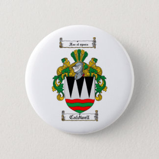 CALDWELL FAMILY CREST -  CALDWELL COAT OF ARMS PINBACK BUTTON