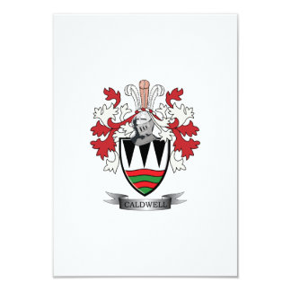 Caldwell Family Crest Coat of Arms Card