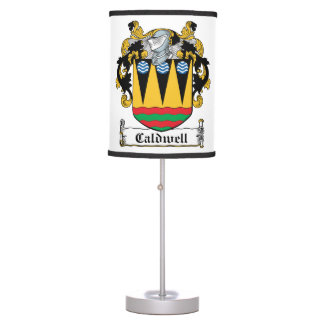 Caldwell Family Crest Lamps