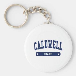Caldwell Idaho College Style t shirts Basic Round Button Keychain