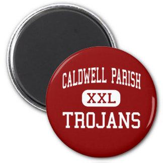 Caldwell Parish - Trojans - Junior - Columbia 2 Inch Round Magnet