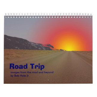Cale del viaje por carretera calendarios