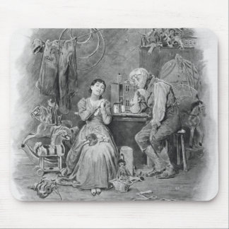 Caleb Plummer and his blind daughter, from 'Charle Mouse Pad