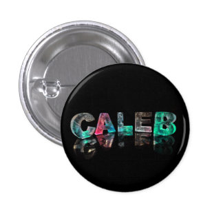 Caleb - Popular Boys Names in Lights Pinback Button