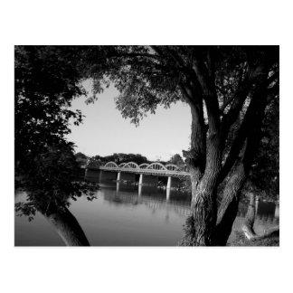 Caledonia Bridge B&W Postcard