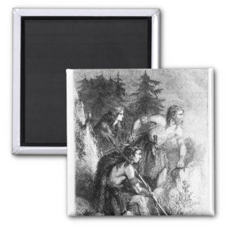 Caledonians, or Picts 2 Inch Square Magnet
