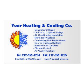Calefacción ADAPTABLE y tarjeta de visita de enfri