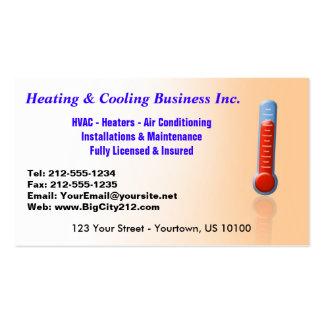 Calefacción y enfriamiento ADAPTABLES termos Tarjetas De Visita