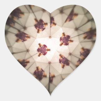 Caleidoscópico Pegatina En Forma De Corazón