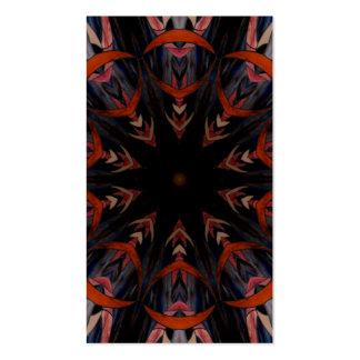 Caleidoscopio 12 del vitral tarjetas de visita