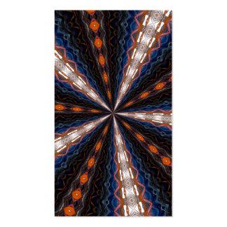 Caleidoscopio 15 del vitral tarjetas de visita