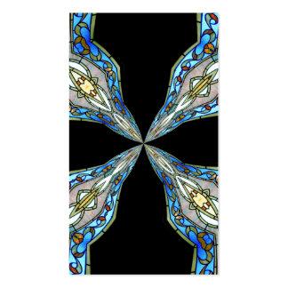 Caleidoscopio 16 del vitral tarjetas de visita