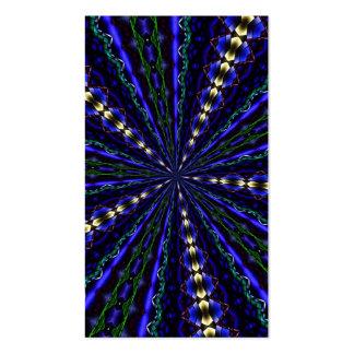 Caleidoscopio 17 del vitral tarjetas de visita