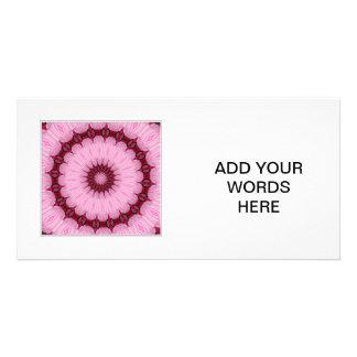 Caleidoscopio 34 del hibisco tarjeta fotografica