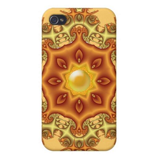 Caleidoscopio abstracto decorativo iPhone 4 carcasa