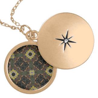 Caleidoscopio abstracto del hexágono del modelo medallón