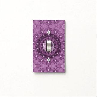 Caleidoscopio abstracto elegante púrpura de Boho Cubierta Para Interruptor