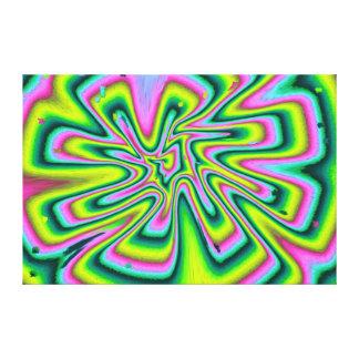 Caleidoscopio abstracto impresión en lienzo
