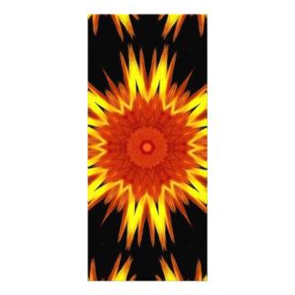 Caleidoscopio amarillo-naranja ardiente de la mand lonas