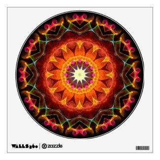 Caleidoscopio anaranjado del girasol vinilo