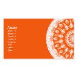 Caleidoscopio anaranjado del sorbete tarjeta personal