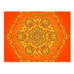 Caleidoscopio anaranjado: Ilustraciones hexagonale Tarjeta Postal
