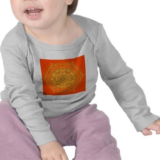 Caleidoscopio anaranjado: Ilustraciones Camisetas