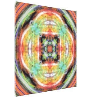 Caleidoscopio artístico del Grunge Lona Envuelta Para Galerias