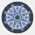 Caleidoscopio azul 4 pegatinas