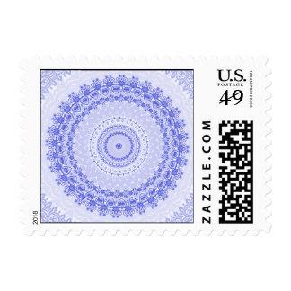 Caleidoscopio azul de la mandala de China Sellos Postales