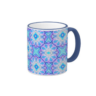 Caleidoscopio azul de la taza de café