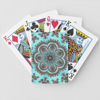 Caleidoscopio azul decorativo barajas de cartas