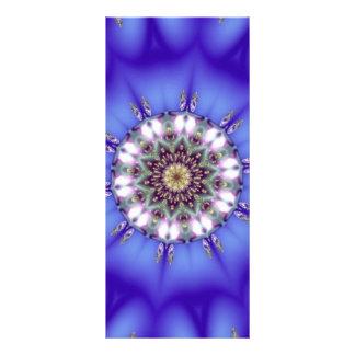 Caleidoscopio azul romántico diseño de tarjeta publicitaria