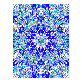 Caleidoscopio azul postales