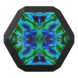 Caleidoscopio azul y verde de la acuarela altavoces bluetooth negros boombot REX