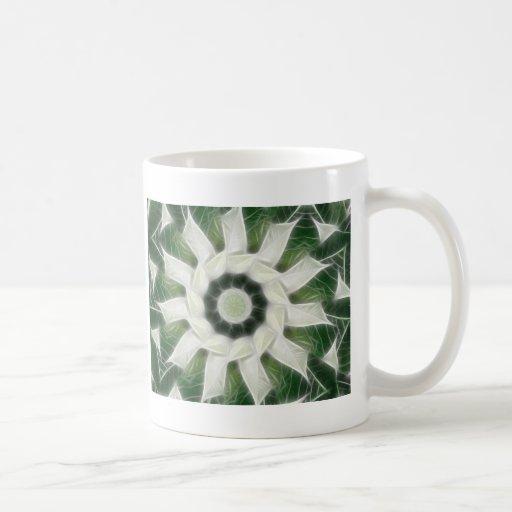 Caleidoscopio blanco 3 de los Poinsettias Taza Básica Blanca