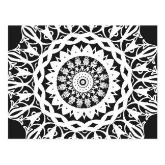 Caleidoscopio blanco y negro 1 postal