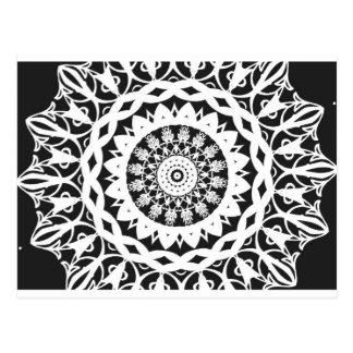 Caleidoscopio blanco y negro 1 tarjeta postal