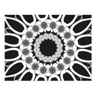 Caleidoscopio blanco y negro 2 postales