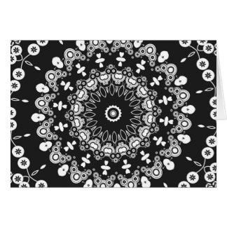 Caleidoscopio blanco y negro 3 tarjetas