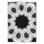 Caleidoscopio blanco y negro 4 tarjeton