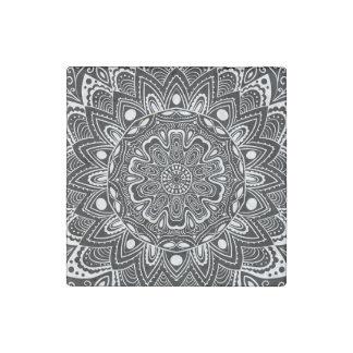 Caleidoscopio blanco y negro imán de piedra