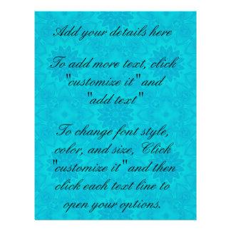 "Caleidoscopio brillante bonito del azul de la folleto 8.5"" x 11"""