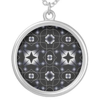 Caleidoscopio brillante negro fresco de la colgante redondo